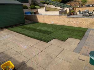 A freshly laid lawn